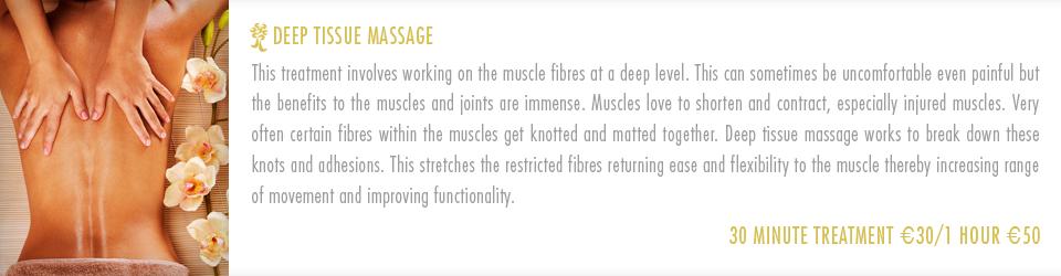 About Amazonas Deep Tissue Massage Treatment