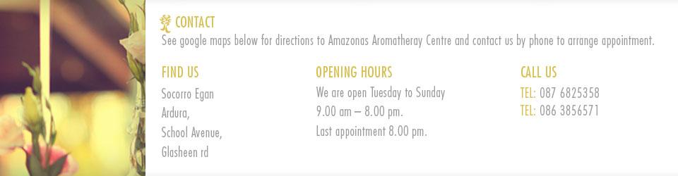 Amazonas Aromatherapy Cork Contact Information Cork